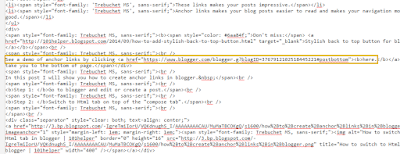 how to build anchor links in blogger