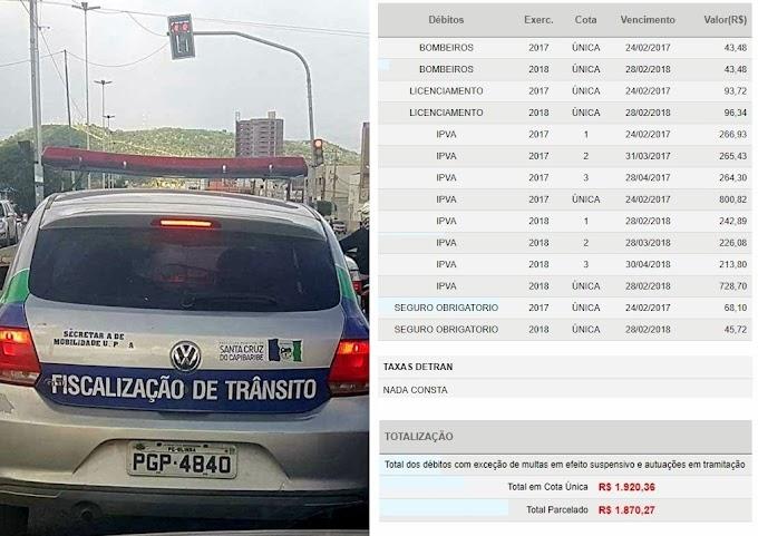 Ministério Público apura caso de veículo de fiscalização de trânsito com documentação atrasada em Santa Cruz