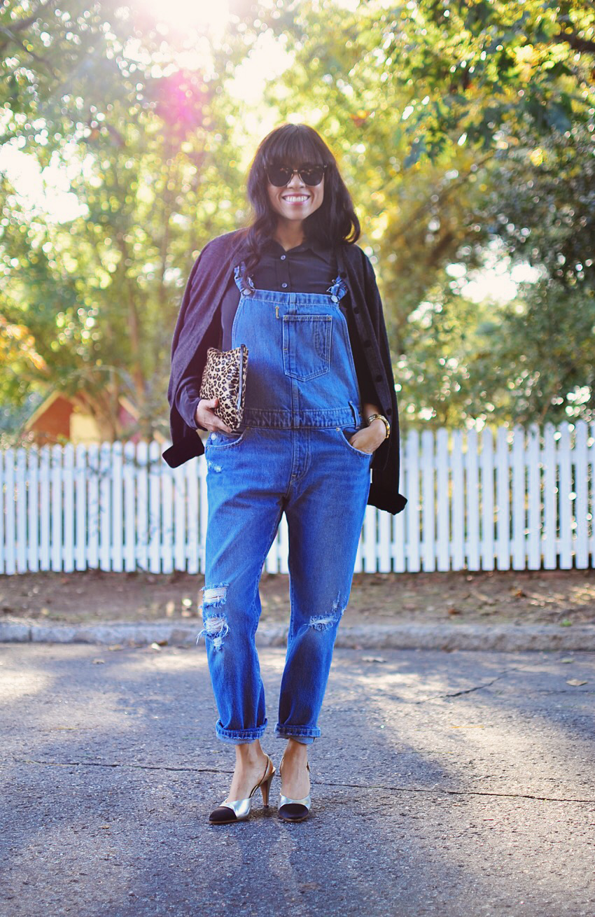 Long overalls street style