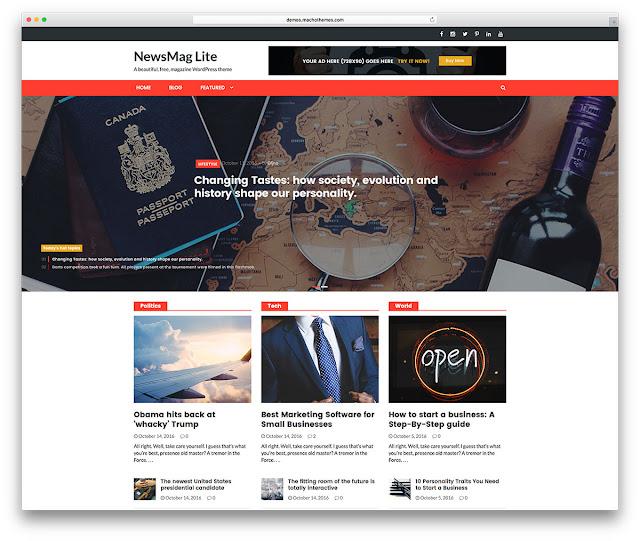 theme NewsMag Lite wordpress