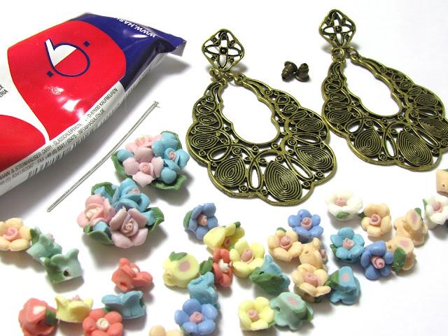 Materialen voor DIY barokke oorbellen