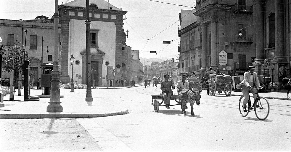 Vintage Everyday Street Scene In Palermo Italy 1930