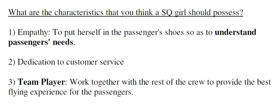 Journey Through Life More Cabin Crew Interview Q / A samples - Sample Interview Questions And Answers