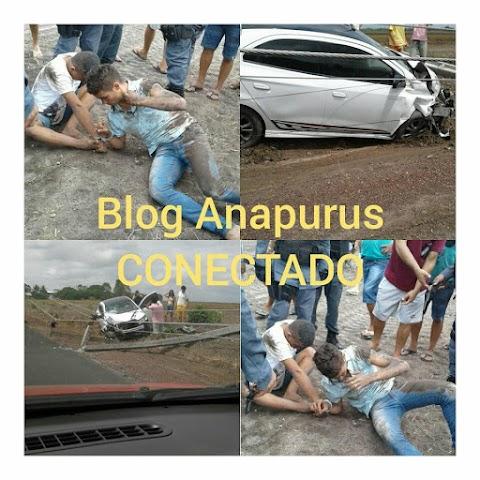 Sobrinho do empresário Jesus do Posto Bom Jesus, após perseguir bandidos sofre acidente