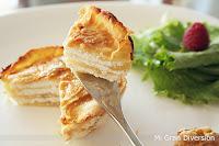 Milhojas de manzana y queso de cabra