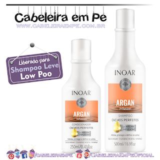 Shampoo e Condicionador Argan Infusion Cachos Definidos - Inoar (Low Poo)