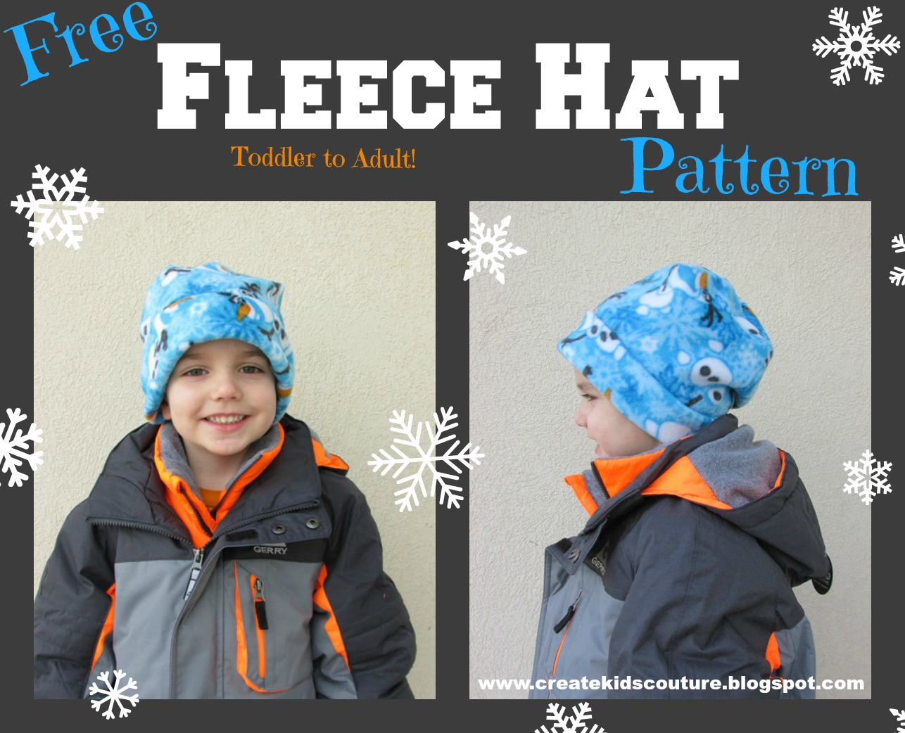 Create Kids Couture  Quick and Easy Fleece Hat Pattern 9475d066626
