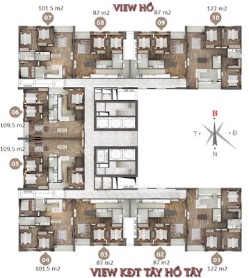 Mặt bằng thiết kế căn hộ Phú Mỹ Complex