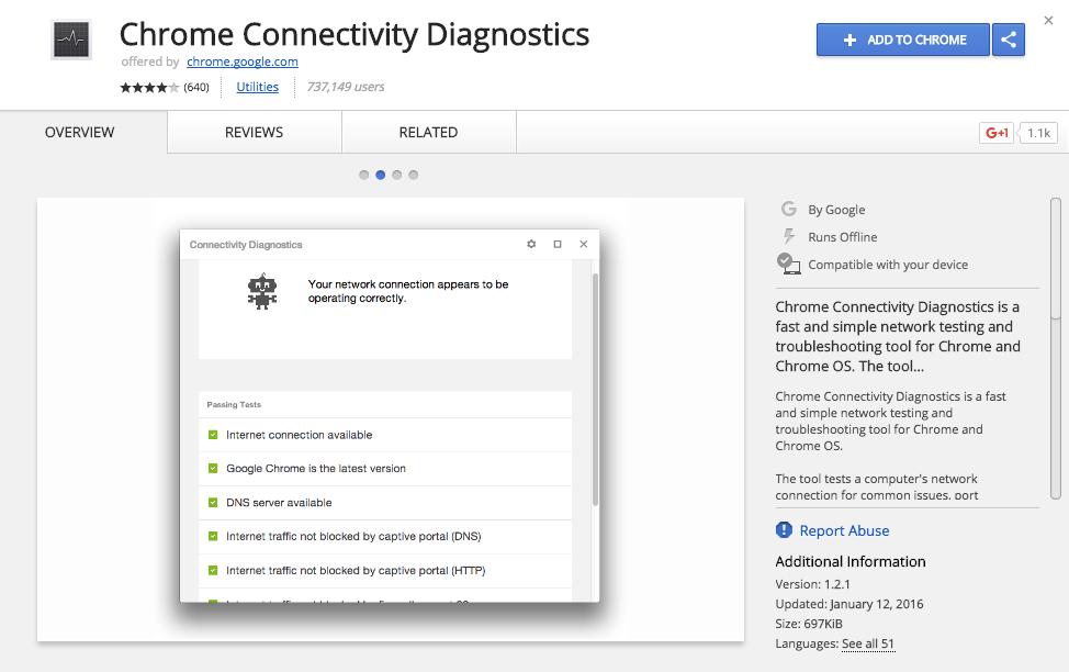 G Suite/Chromebook Blog: [Connectivity Diagnostics Tool for