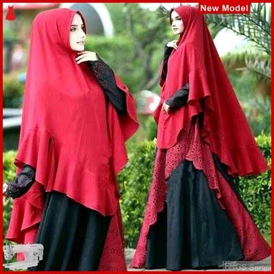 FHGS9002 Model Syari Nabila Merah, Wolly Gamis Perempuan Crepe BMG