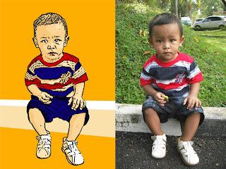 kartun dengan photoshop