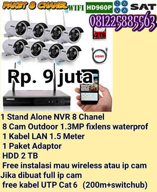 cocok-untuk-rumah-ruko-tingkat-paket-wireless-/-ip--cam-8-chanel