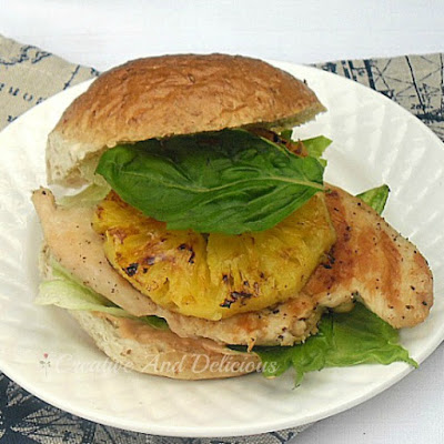 Lime & Pineapple Chicken Burger