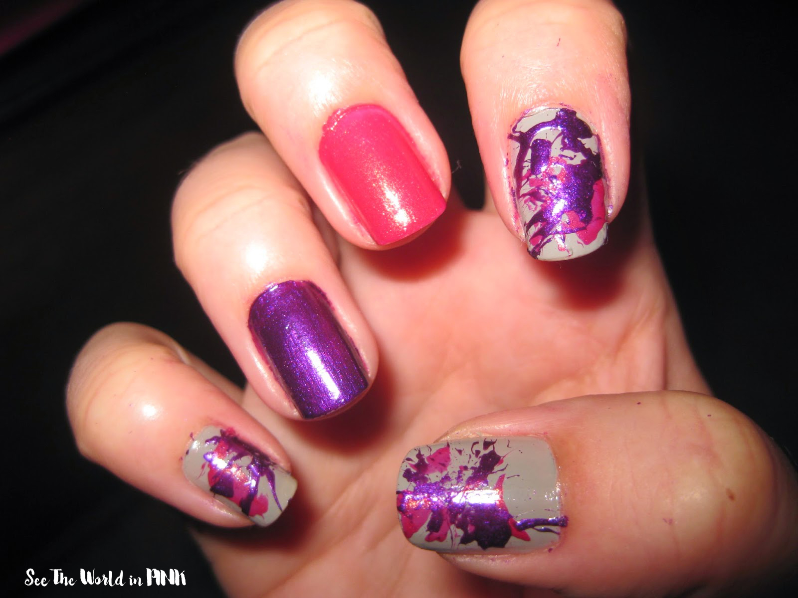 Manicure Monday - Splatter Nails!