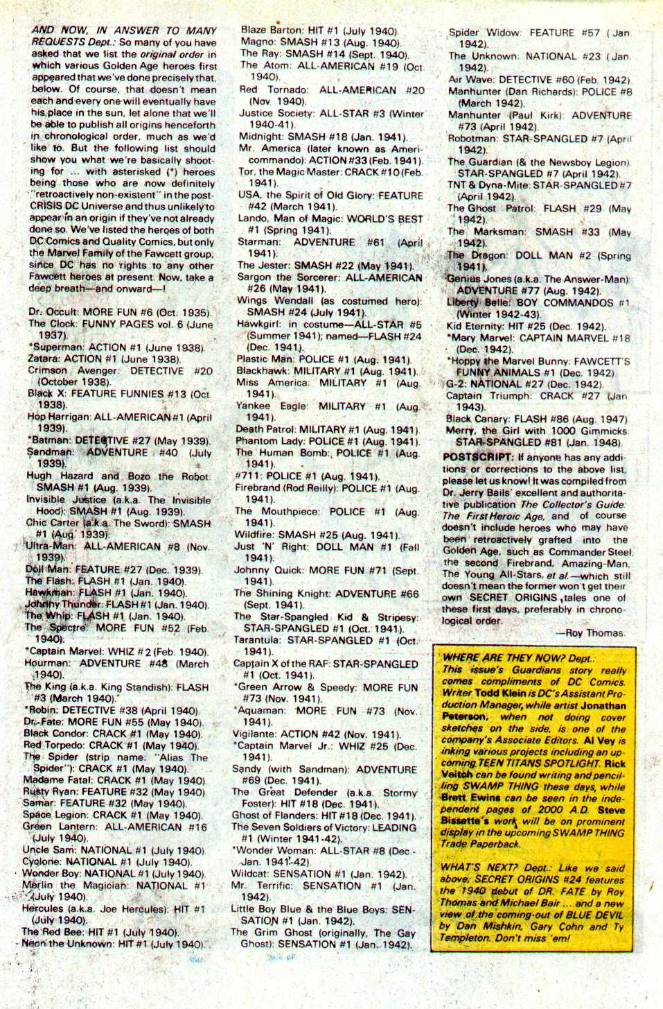 Read online Secret Origins (1986) comic -  Issue #23 - 43