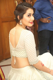 Raashi Khanan looks stunning in Crop Top Deep neck Choli Ghagra Transparent Chunni WOW ~ Exclusive Celebrities Galleries 006