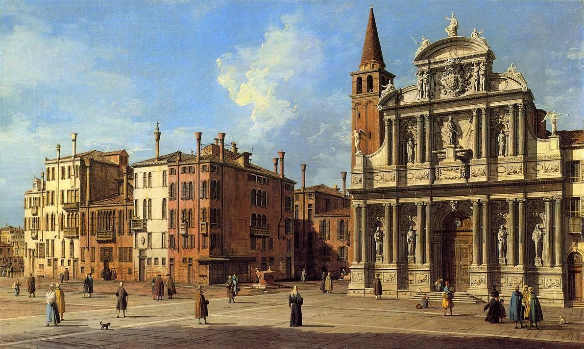 Canaletto's painting of Campo Santa Maria del Giglio, Venice