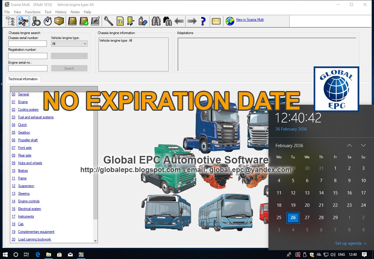 GLOBAL EPC AUTOMOTIVE SOFTWARE: SCANIA MULTI 10 2018
