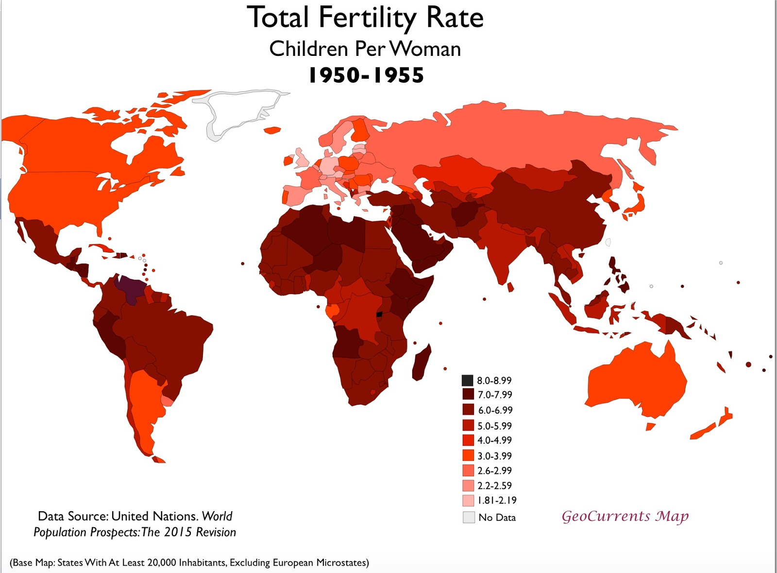 Total fertility rate (1950 - 1955)