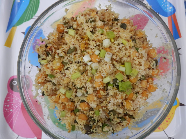 What do Vegans Eat?  Vegan Meal Ideas.  chickpea and couscous salad