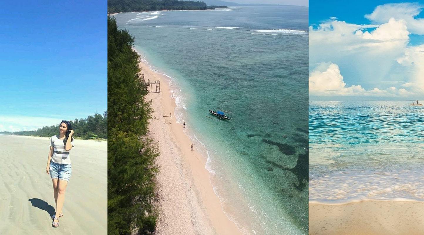 Menjelajah di pantai Linau Bengkulu