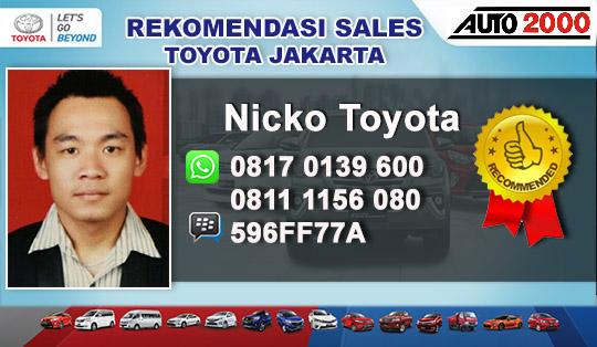 Rekomendasi Sales Toyota Gandaria, Jakarta