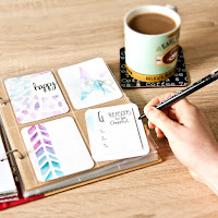 Click through to tutorial on how to make your own watercolour journaling cards
