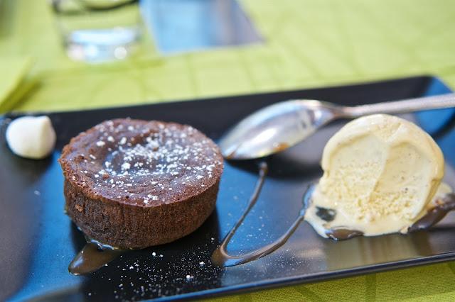 Sentier des Saveurs Parthenay - Restaurant Parthenay - Mi-cuit au chocolat maison - dessert