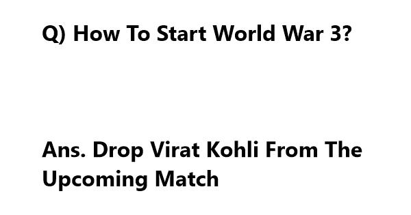 world war 3 jokes