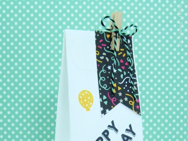 It's My Party Card Gift Bag Using The Gift Bag Punch Board from Stampin' Up! UK