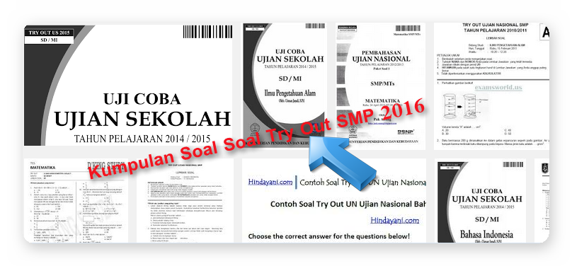 second image for Try Out Ujian Nasional Smp Sederajat with Download Latihan Soal Soal Serta Pembahasan Try Out UN SMP ...