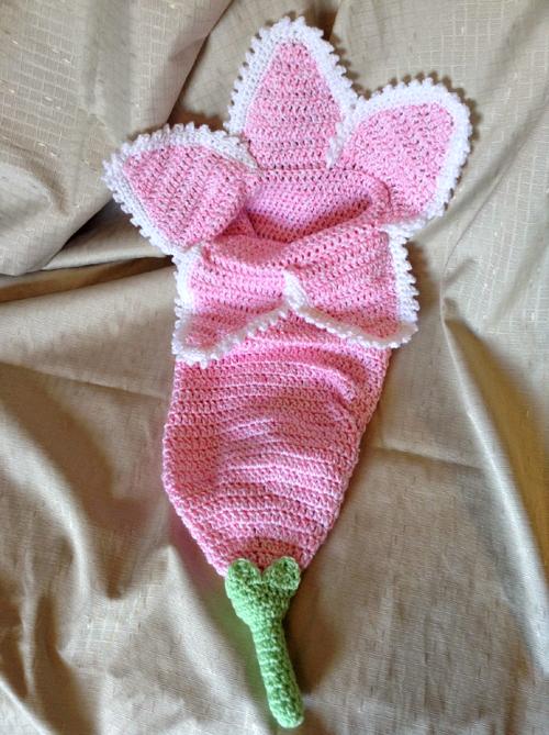 Spring Flower Newborn Cocoon - Free Pattern