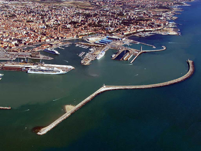 Porto Mediceo, Medicean Port from above, Livorno