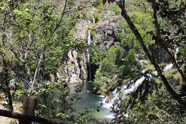 A Cachoeira das Capivaras, em Cavalcante. Muito bonita, cheia de verde e belezas!