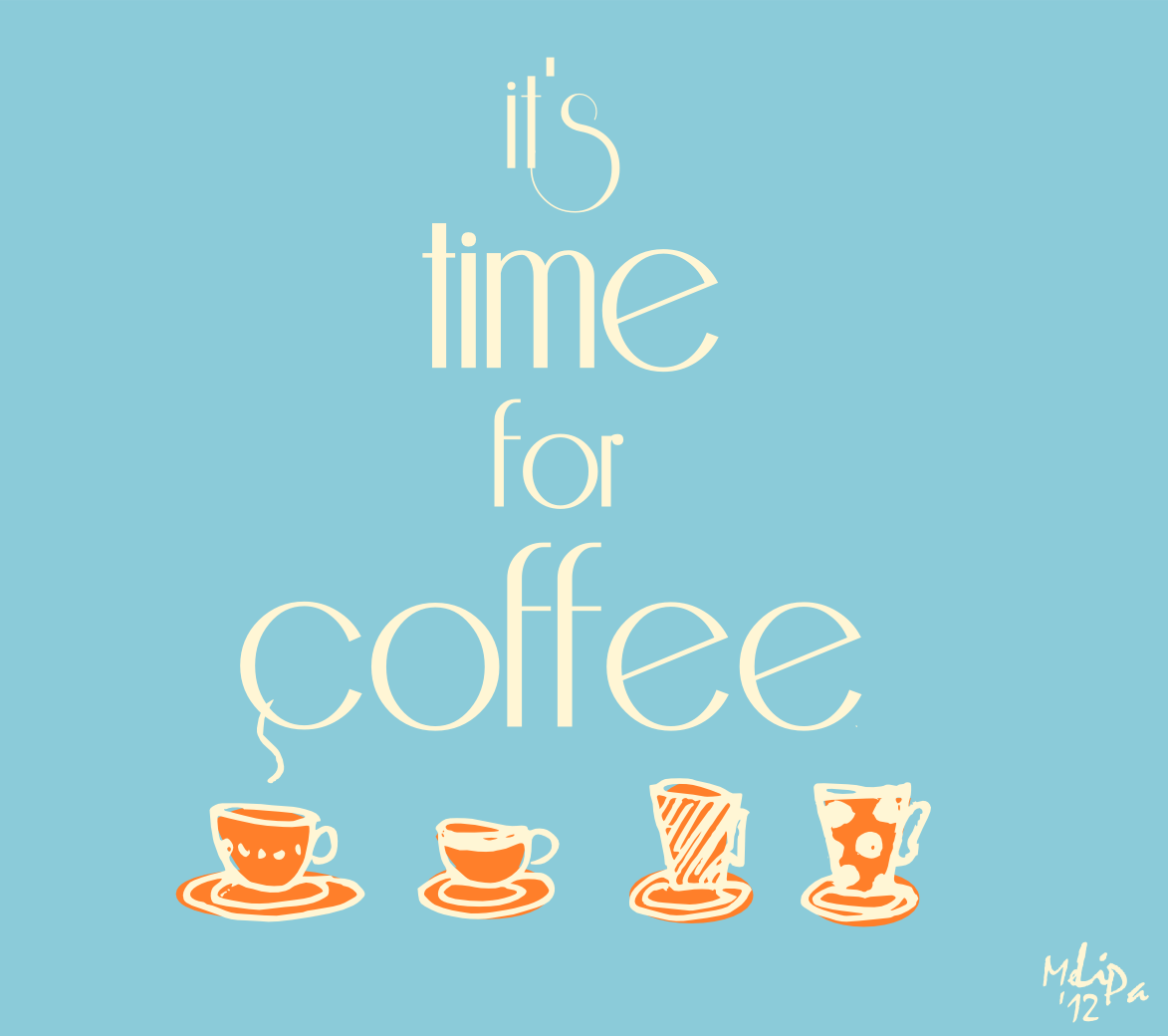 Stickers For Home Decoration It S Time For Coffee Kitchen Printable Kaffee