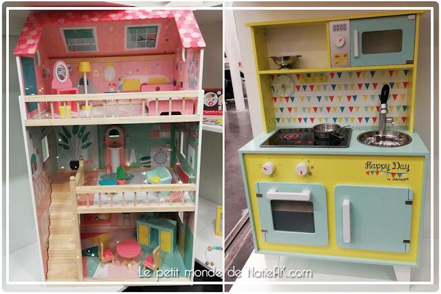 Maison de poupée et cuisinière Happy day  de Janod