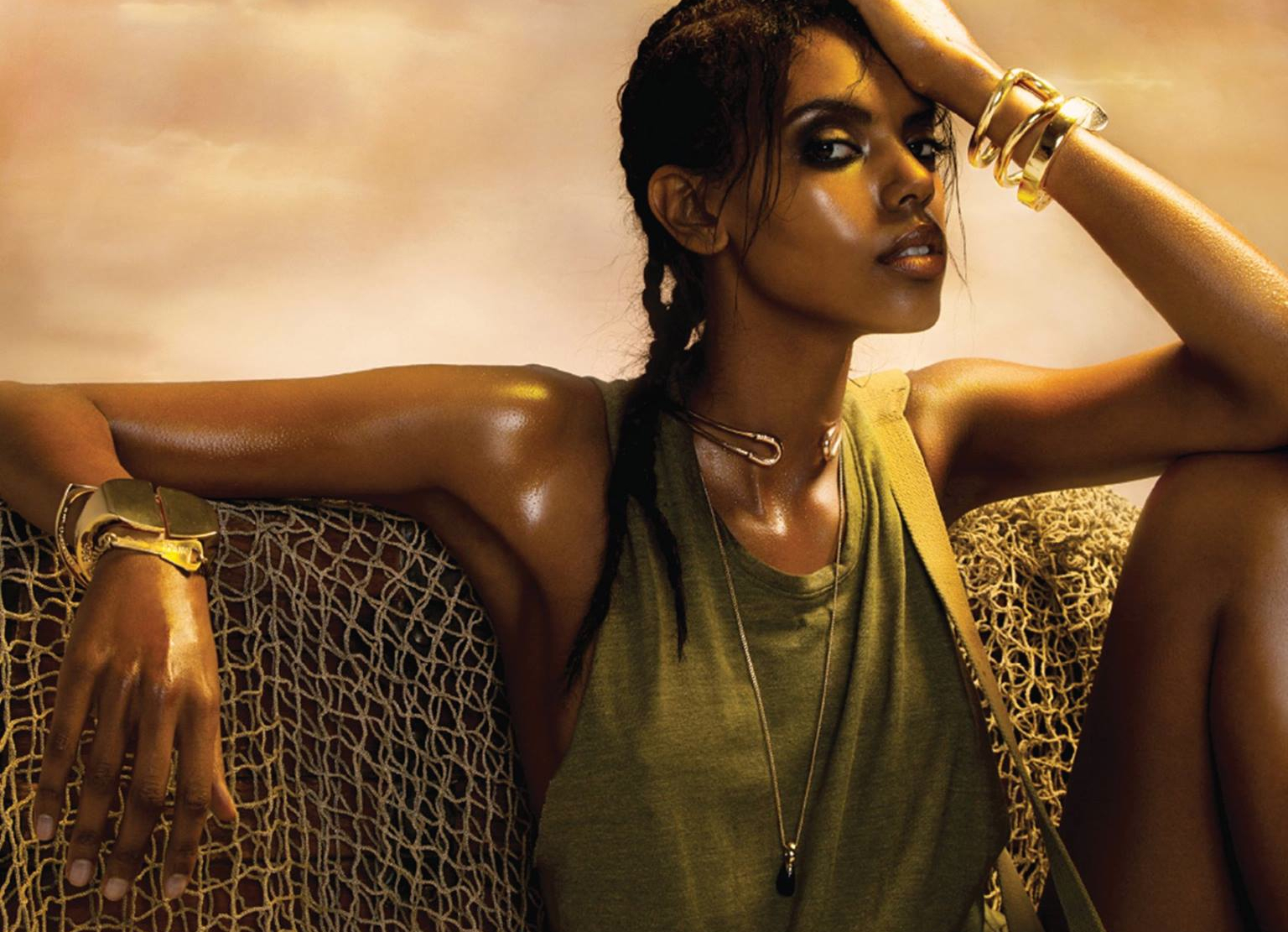 green machine  grace mahary by bryan huynh for fashion
