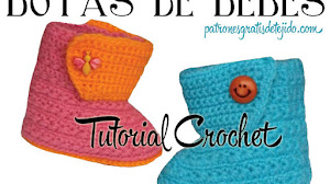 Botas para Bebés tejidas al Crochet / Tutorial