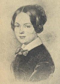 Η Μαρί φον Έμπνερ-Έσενμπαχ τη δεκαετία του 1840.