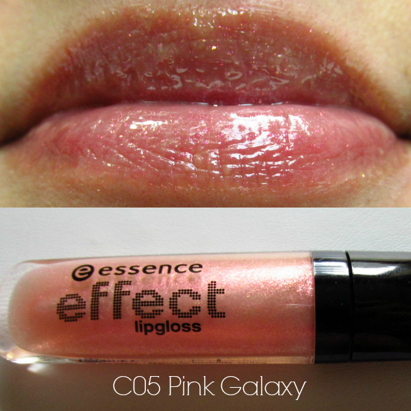 essence effect lipgloss c05 pink galaxy swatch
