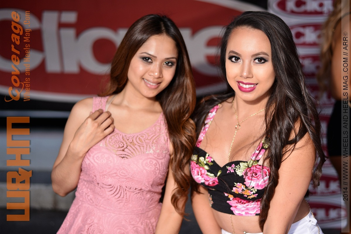 Miss Gina Tee and Rachy Rachh at iClique lounge in 2014 HIN LA car show