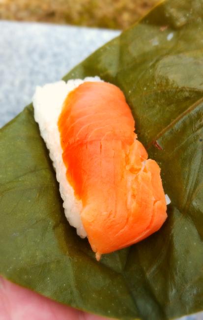 人文研究見聞録:奈良の柿の葉寿司(さけ)
