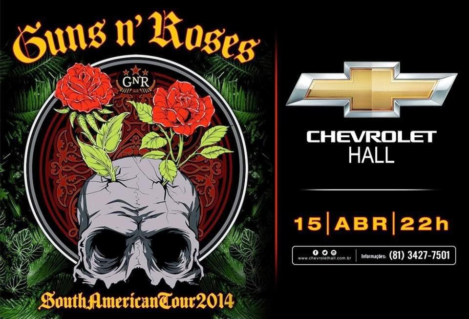 Ingressos Do Show De Guns N Roses Em Fortaleza Variam: Ingressos Recife: Guns N'Roses Em Recife