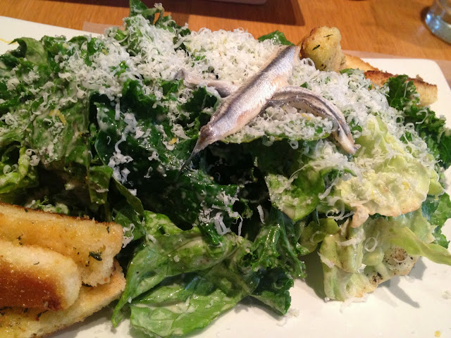 salad, Cesar, kale, Umami Burger, restaurant review, NYC