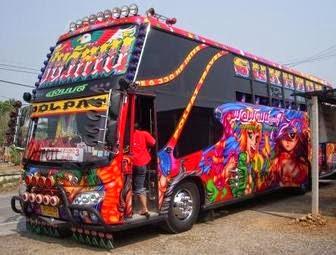 Modifikasi mobil bus