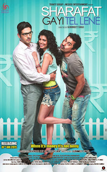 Poster Of Bollywood Movie Sharafat Gayi Tel Lene 2015 300MB DVDRip 480P Full Hindi Movie movies365.in
