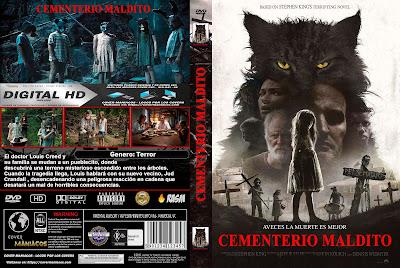 CARATULA CEMENTERIO MALDITO - PET SEMATARY - 2019 [COVER DVD]