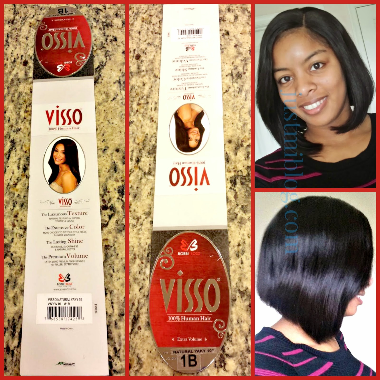 Full sew-in with lace closure and the Visso 100% human hair used