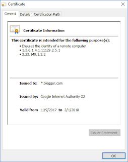 blogger.com - SSL Certificate