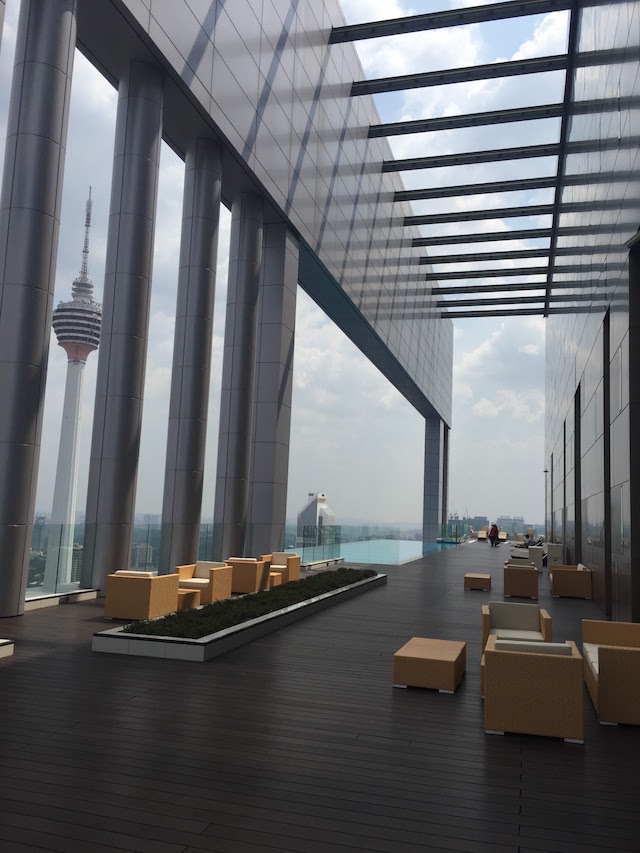 KL Tower and KLCC can be viewed from the infinity pool of The FACE Platinum Suites KLCC